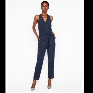NWT Express belted surplice jumpsuit